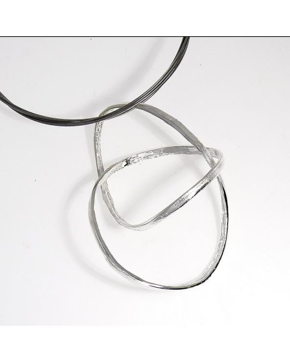 colgante infinity grande orfega plata