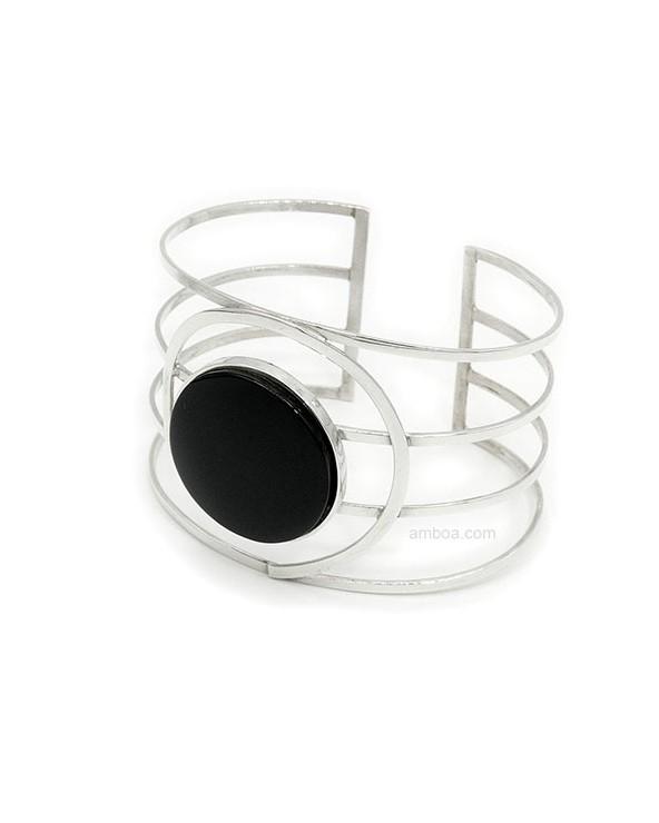 pulsera plata azabache