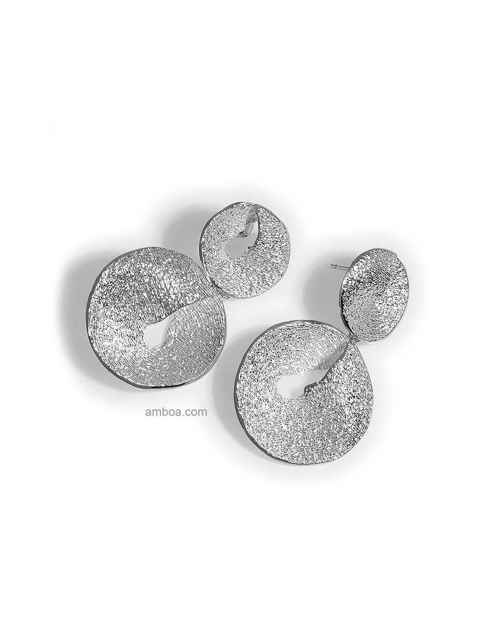 Pendientes Karen 2 piezas orfega plata natural