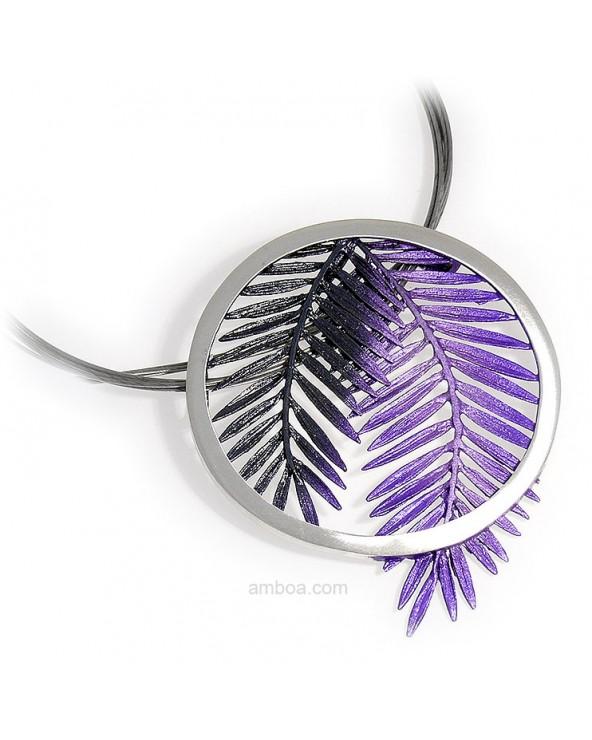Colgante Male grande orfega plata simeltech violeta