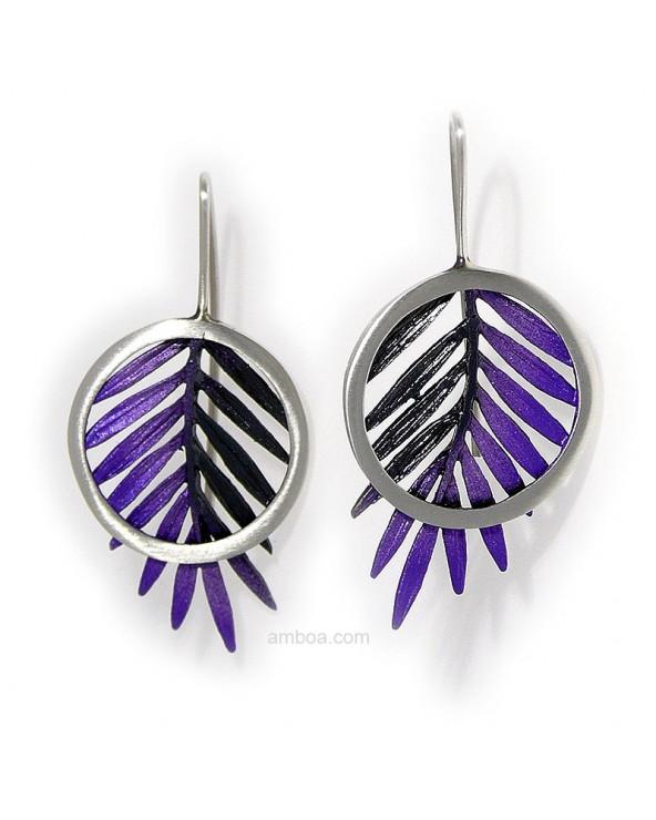 Pendientes Male gancho grandes orfega plata simeltech violeta