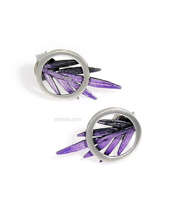 Pendientes Male presión pequeños violeta