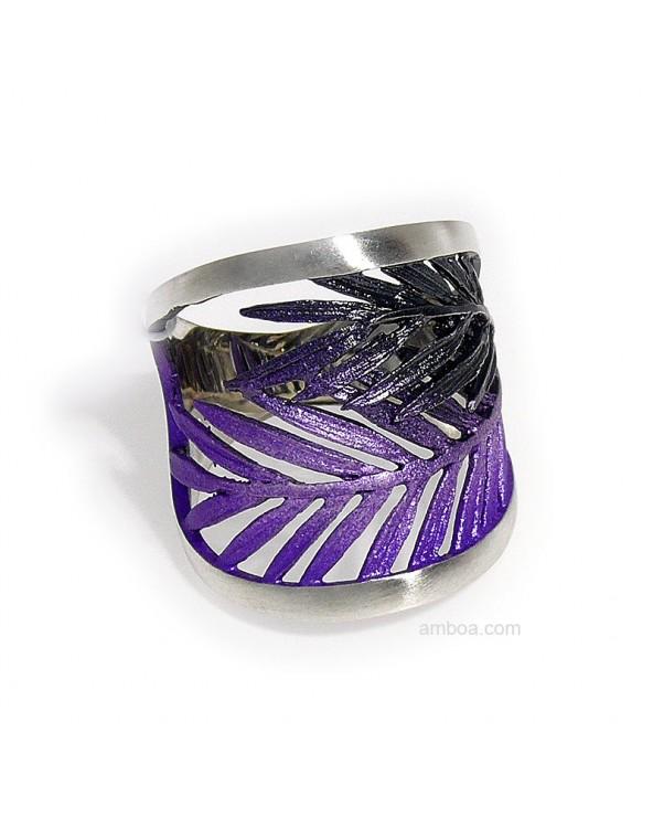 anillo Male orfega plata simeltech violeta