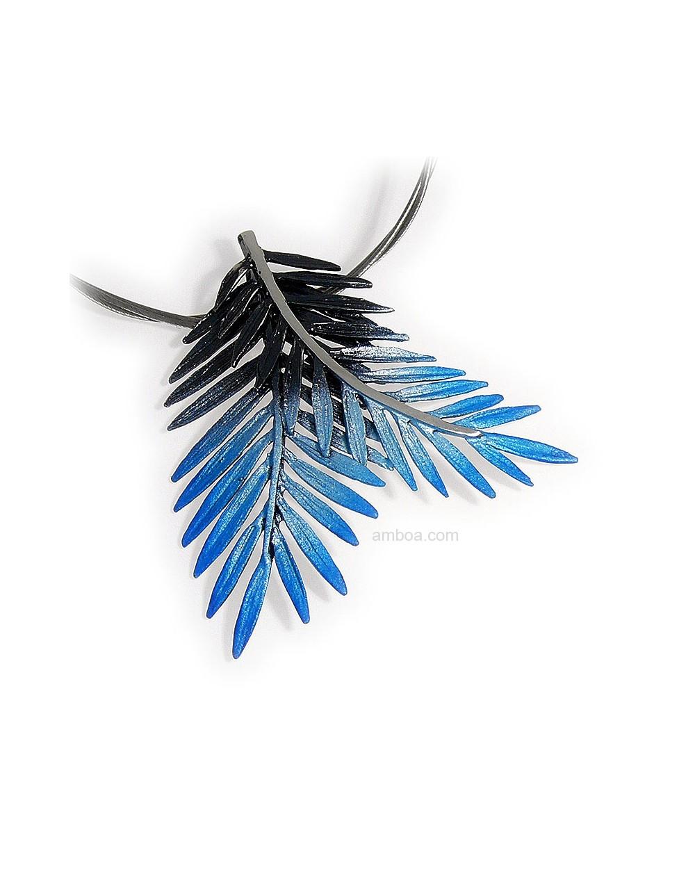 colgante Male pequeños orfega plata simeltech azul
