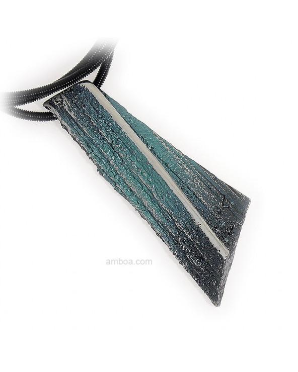 Colgante Ariel grande orfega plata azul