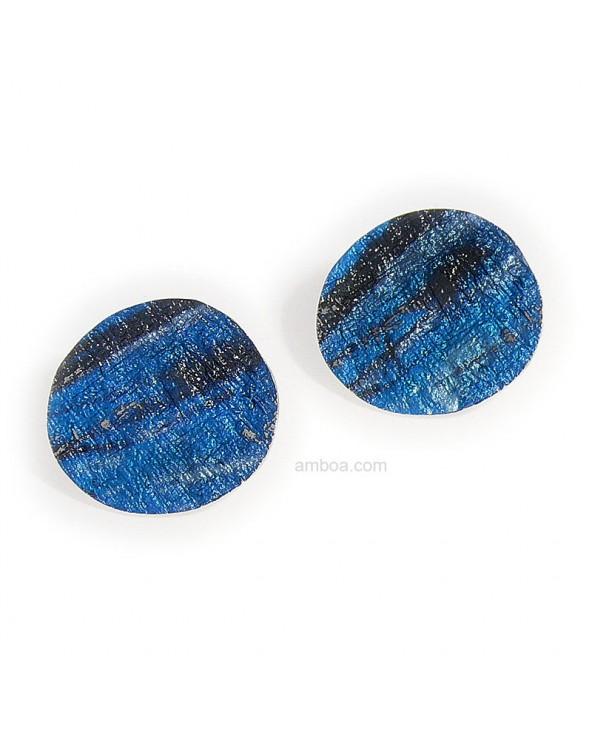 Pendientes Alba presion pequeños orfega plata azul