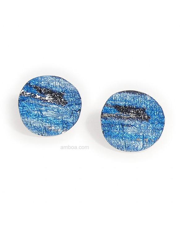 Pendientes Alba presion medianos orfega plata azul