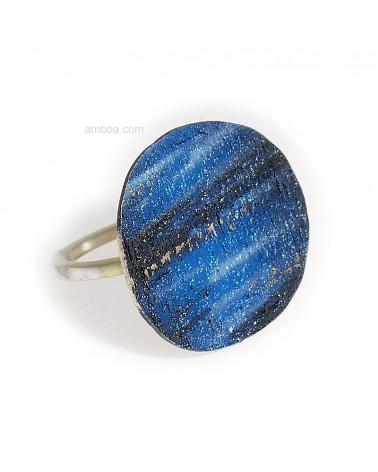 Anillo Alba orfega plata azul