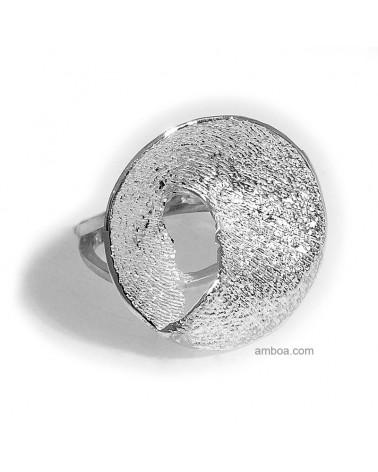 anillo Karen orfega plata natural