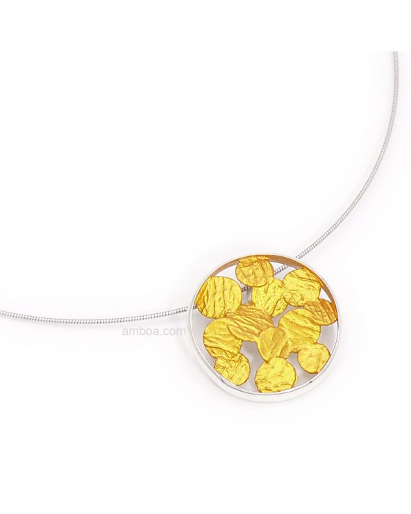 Colgante Sisma pequeño orfega plata oro claro