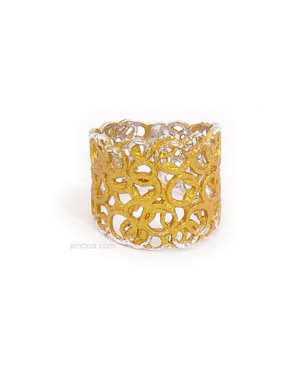 anillo cosmo orfega plata oro claro
